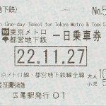 小俩口东京自由行-Day 2一日乘车券