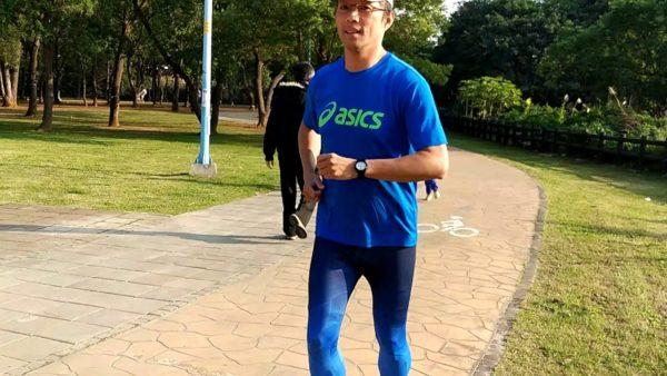 出国旅行抗铁腿就穿VOUX 机能紧身裤男Irisation紧身裤-蓝色,多运动当然好健康